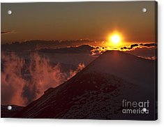 Sun Setting Acrylic Print by Karl Voss