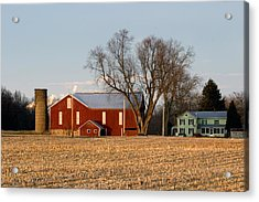 Acrylic Print featuring the photograph Sun Setting On A Pennsylvania Bottomland Farm by Gene Walls