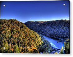 Acrylic Print featuring the photograph Sun Setting On Fall Hills by Jonny D