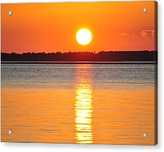 Sun Setting Over Beaufort Acrylic Print by James Lewis