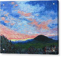 Sun Setting Over Mole Hill - Sold Acrylic Print by Judith Espinoza
