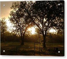 Sun Shining Through The Rain Acrylic Print