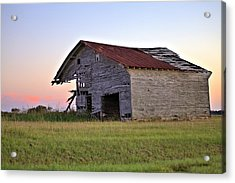 Sun Slowly Sets Acrylic Print by Gordon Elwell