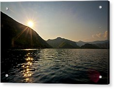 Acrylic Print featuring the photograph Sun Sparkles On The Mediterranean Sea by David Isaacson