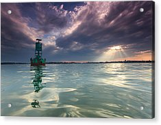 Acrylic Print featuring the photograph Sun Spill Over Annapolis by Jennifer Casey