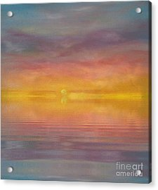 Acrylic Print featuring the painting Sun Tapestry by Holly Martinson
