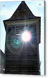 Sun Through The Steeple-by Cathy Anderson Acrylic Print