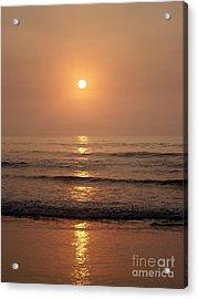 Sun Up Along Hampton Beach Acrylic Print by Eunice Miller