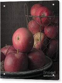 Sun Warmed Apples Still Life Standard Sizes Acrylic Print by Edward Fielding