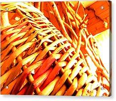 Sun Wicker Basket Acrylic Print by Yury Bashkin