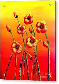Sun Worshipers Acrylic Print