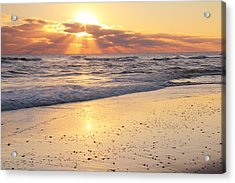 Sunbeams On The Beach Acrylic Print