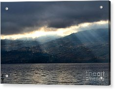 Sunbeams On The Mission II Acrylic Print by Phil Dionne