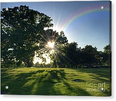 Sunburst At The End Of A Rainbow Acrylic Print by Amy Cicconi