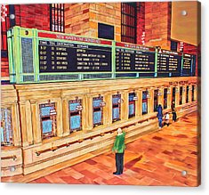Sunday Am At Grand Central Acrylic Print