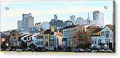Sunday At Marina Green Park Fort Mason San Francisco Ca Acrylic Print by Artist and Photographer Laura Wrede