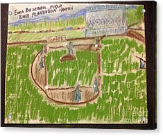 Sunday Baseball Ewa Plantation Acrylic Print by Willard Hashimoto