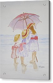 Sunday Best At The Beach Acrylic Print by Elvira Ingram