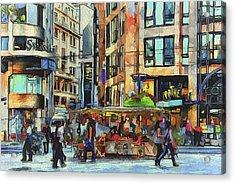 Sunday City Walk Acrylic Print