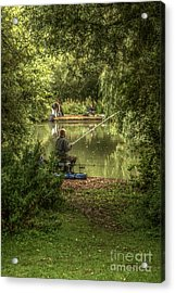Sunday Fishing At The Lake Acrylic Print