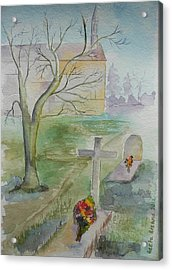 Acrylic Print featuring the painting Sunday by Geeta Biswas