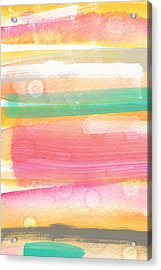 Sunday In The Park- Contemporary Abstract Painting Acrylic Print by Linda Woods