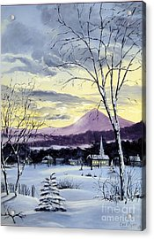 Sunday In Winter Acrylic Print by Lee Piper
