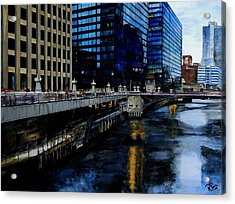 Sunday Morning In January- Chicago Acrylic Print