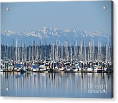 Acrylic Print featuring the photograph Sunday Morning Masts by Gayle Swigart