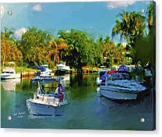 Acrylic Print featuring the painting Sunday Outing by Ted Azriel