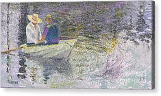 Acrylic Print featuring the painting Sunday Sailors by Sandy Linden