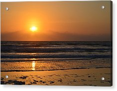 Acrylic Print featuring the photograph Sundays Golden Sunrise by DigiArt Diaries by Vicky B Fuller