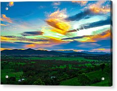 Sunday's Sunsets  Acrylic Print by Naomi Burgess