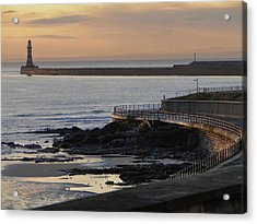 Sunderland Sunrise Acrylic Print by Julia Wilcox