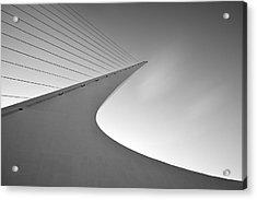 Sundial Bridge Bw 6 Acrylic Print by Leland D Howard