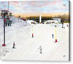 Acrylic Print featuring the painting Sundial Lodge At Nemacolin Woodlands Resort by Albert Puskaric