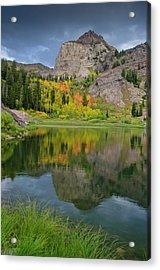 Sundial Peak Reflected In Lake Lillian Acrylic Print