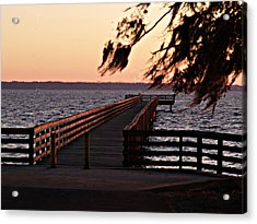 Sundown At Shands Dock Acrylic Print