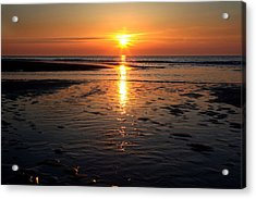Acrylic Print featuring the photograph Sundown At The North Sea by Annie Snel
