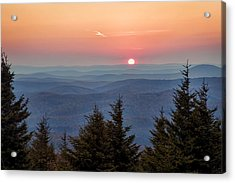Sundown From Spruce Knob Acrylic Print