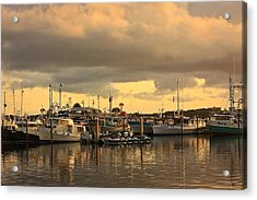 Sundown In The Bay... Acrylic Print by Tammy Schneider