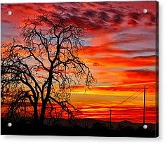 Sundown On Jeffcoat Acrylic Print