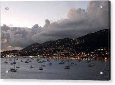 Acrylic Print featuring the photograph Sundown On St. Thomas by Judy Hall-Folde