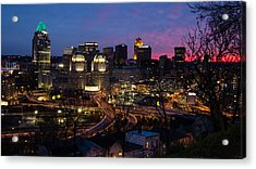 Sundown On The City Acrylic Print