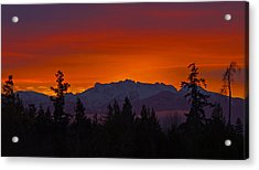 Sundown Acrylic Print by Randy Hall