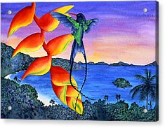 Sundowner At Cinnamon Acrylic Print by Carolyn Steele