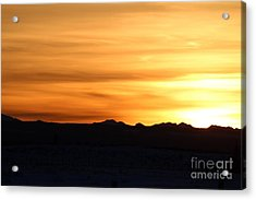 Sundre Sunset Acrylic Print