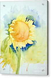 Acrylic Print featuring the painting Sunflower 1 by Laurel Best