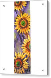 Acrylic Print featuring the painting Sunflower Abstract  by Chrisann Ellis
