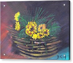 Sunflower Basket Acrylic Print